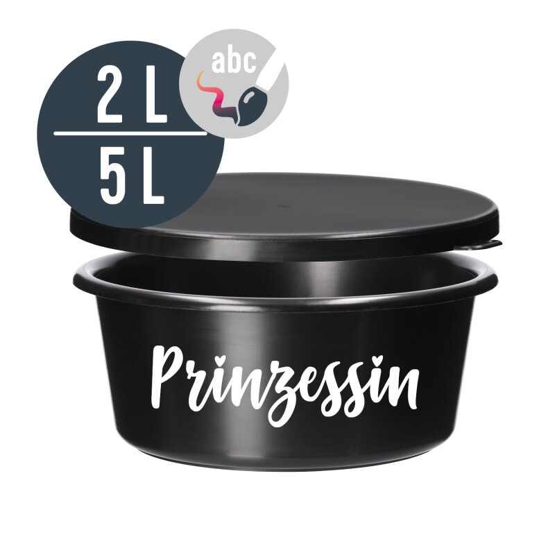BLACK LOVE (5 L)  personalized feeding bowl